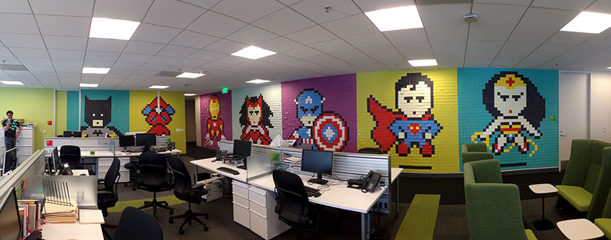 office-wall-post-it-art-superheroes-ben-brucker-19