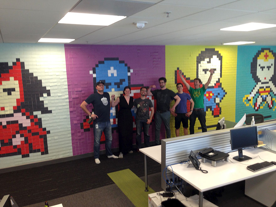 office-wall-post-it-art-superheroes-ben-brucker-4