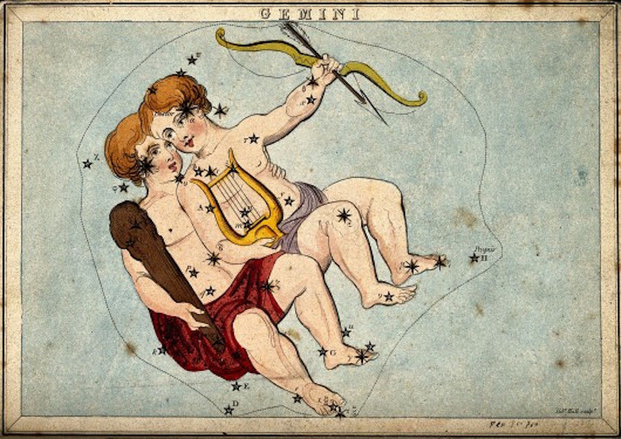 Astrology_signs_of_the_zodiac_Gemini._Coloured_engraving_b_Wellcome_V0024943-530x375