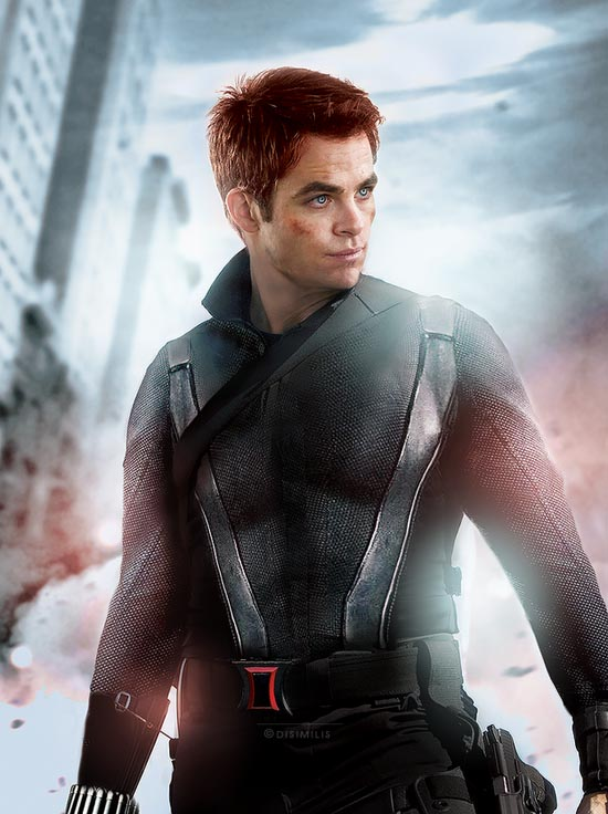BLACK WIDOW : CHRIS PINE