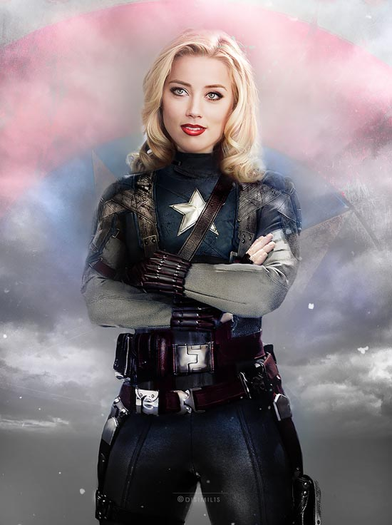 CAPTAIN AMERICA : AMBER HEARD