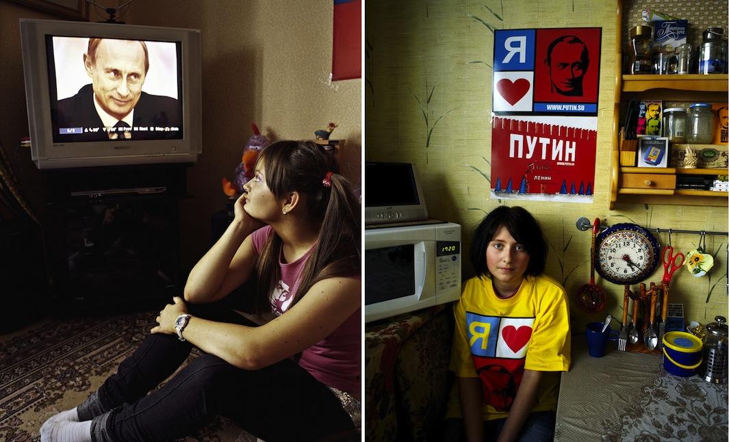 """Vika Matorina: """"Putin è unico, è un ideale. Prima c'era lo Zar, adesso c'è Putin, è come un Dio per me. Lo considero anche come un padre. È l'uomo perfetto, un politico, uno sportivo e un uomo di famiglia. Voglio un marito come lui""""."""