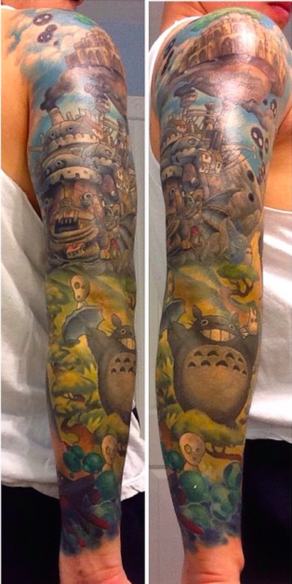 studio-ghibli-full-sleeve-tattoo-2