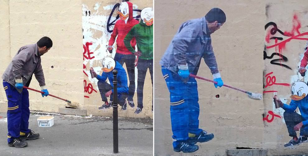 Man-tries-to-clean-up-graffiti-ends-up-becoming-graffiti