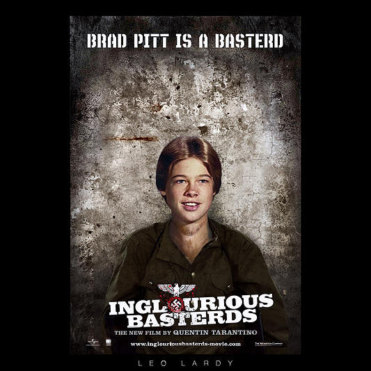 Inglourious Basterds movie poster Brad Pitt
