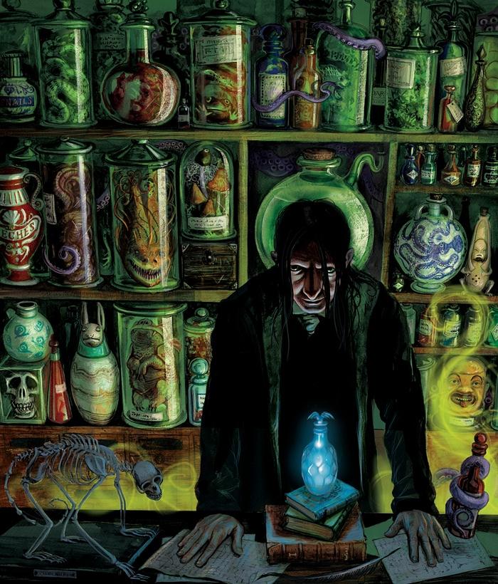 L'illustrazione di Severus Piton citata prima.