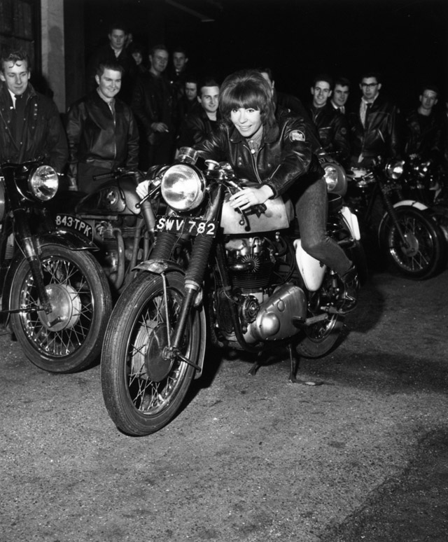 Vintage Young Girls Riding on Motorbikes (10)