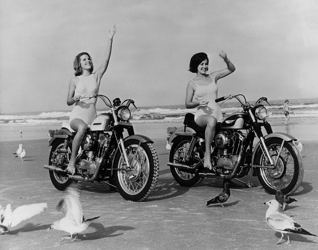 Vintage Young Girls Riding on Motorbikes (12)