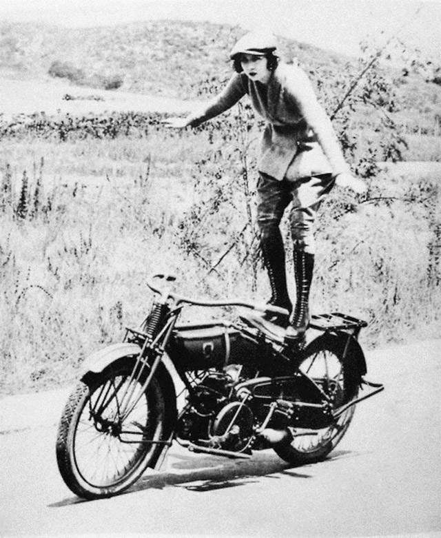 Vintage Young Girls Riding on Motorbikes (14)