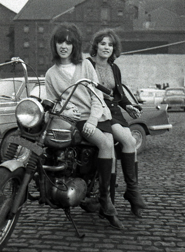 Vintage Young Girls Riding on Motorbikes (2)