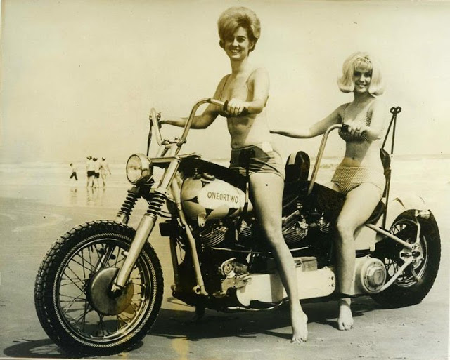 Vintage Young Girls Riding on Motorbikes (20)