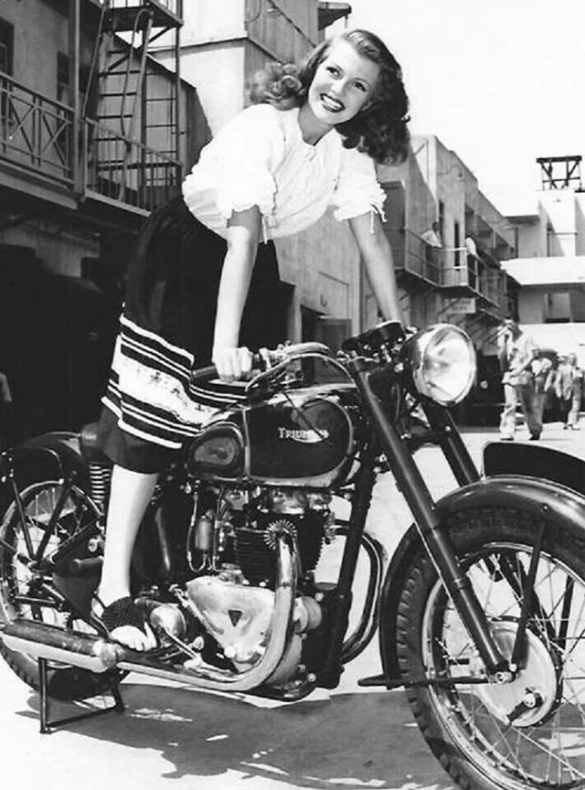 Vintage Young Girls Riding on Motorbikes (21)