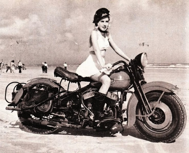 Vintage Young Girls Riding on Motorbikes (22)