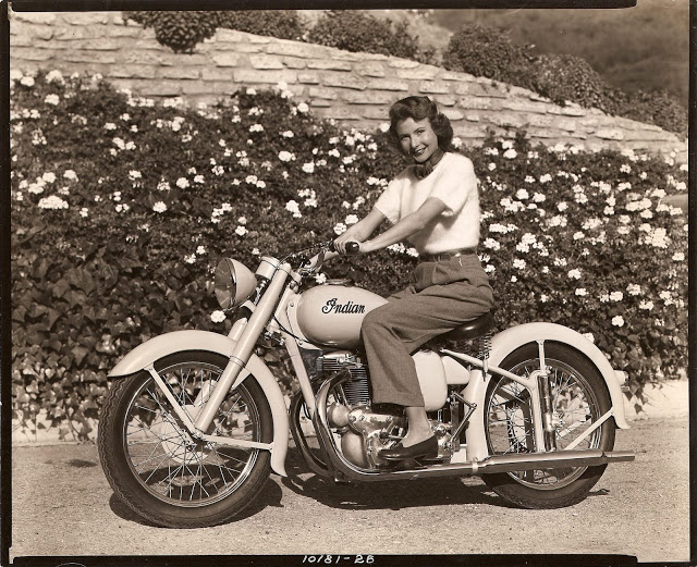 Vintage Young Girls Riding on Motorbikes (5)