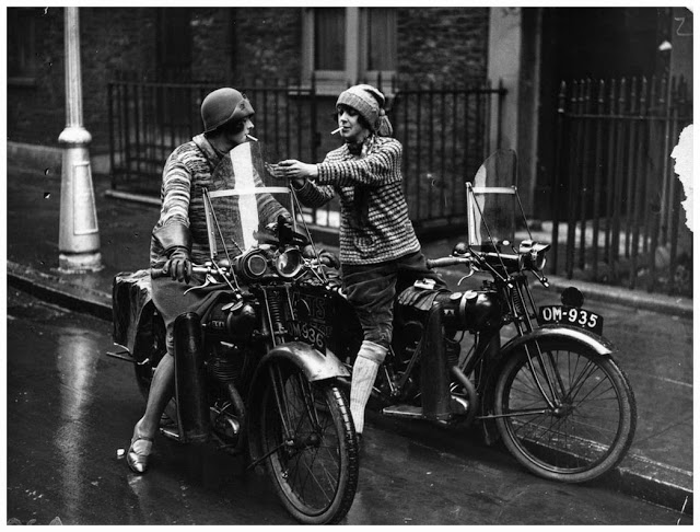 Vintage Young Girls Riding on Motorbikes (7)