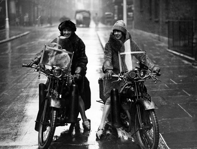 Vintage Young Girls Riding on Motorbikes (8)
