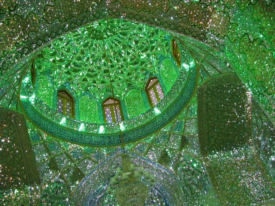 emerald-tomb-ceiling-shah-cheragh-shiraz-iran-10