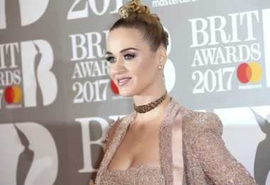 Singer Katy Perry poses for photographers upon arrival at the Brit Awards 2017 in London, Wednesday, Feb. 22, 2017. (Photo by Joel Ryan/Invision/AP)