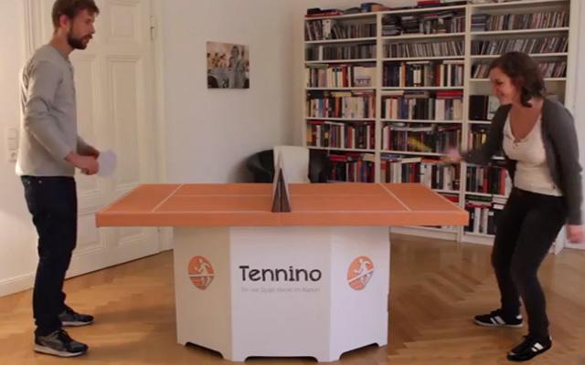 Un tavolo da ping pong in cartone per l 39 ufficio darlin for Musica rilassante da ufficio