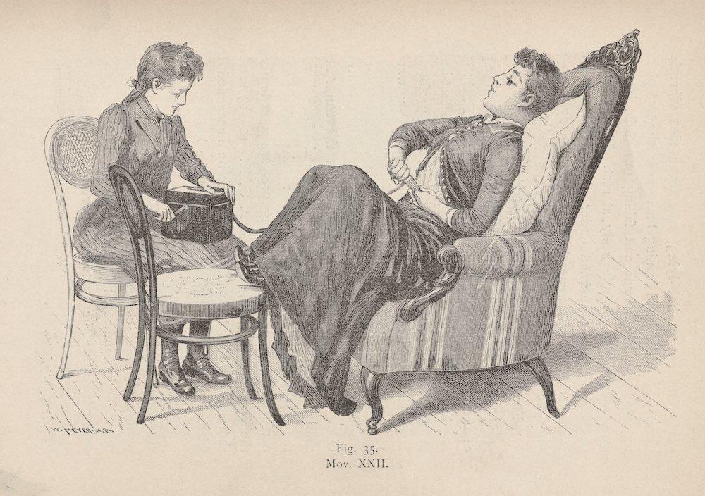 1891: dimostrazione di come si usa il vibratore
