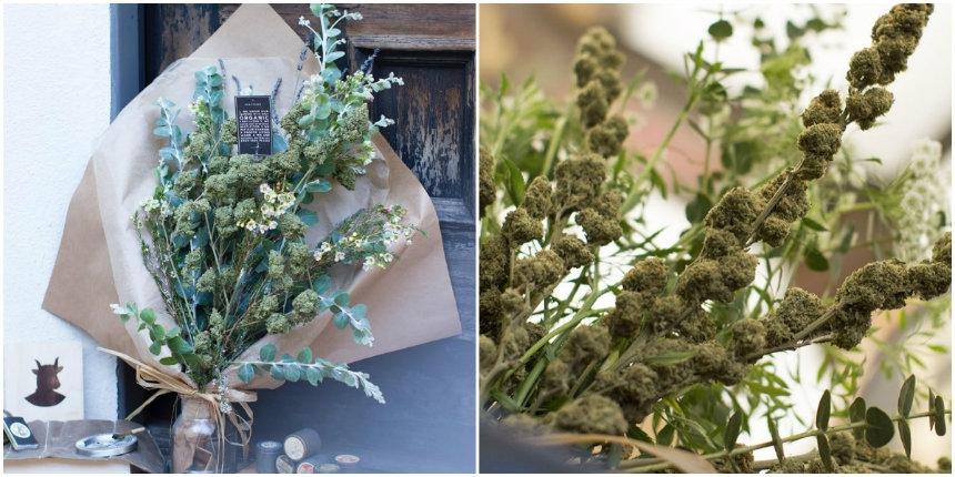 Arriva un nuovo servizio di consegna di bouquet di marijuana a domicilio