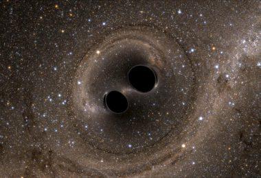 scontro tra due buchi neri
