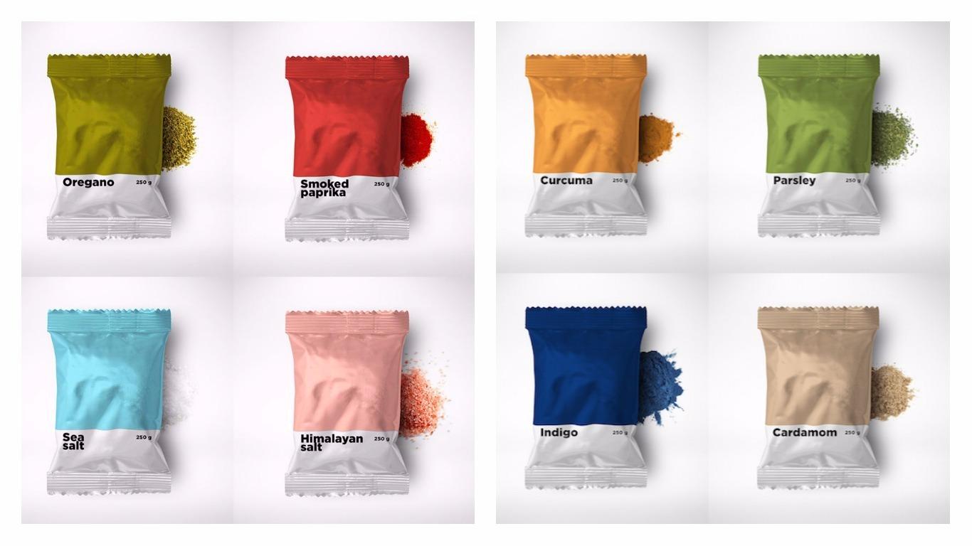 Le spezie pi hipster della cucina in confezioni coi - I colori della cucina ...