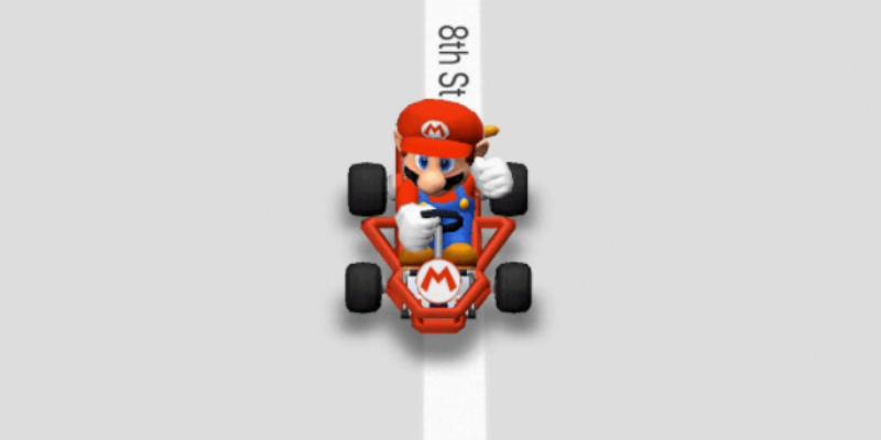 Google Maps diventa… Mario Kart