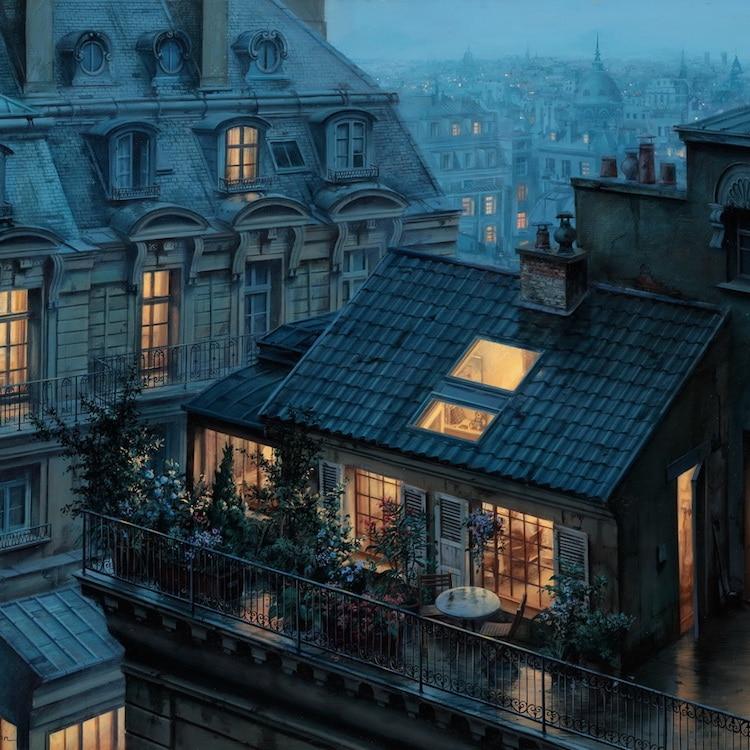 La magia dei tetti di parigi al tramonto darlin magazine for Quadri di parigi