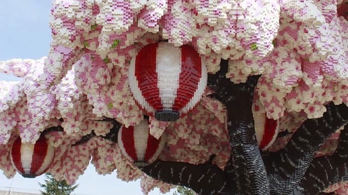 giappone   u00e8 stato costruito il pi u00f9 grande albero di fiori