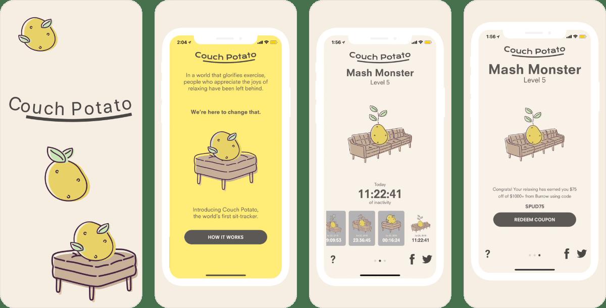 con l 39 app couch potato puoi misurare quanto ti pesa il culo darlin magazine. Black Bedroom Furniture Sets. Home Design Ideas