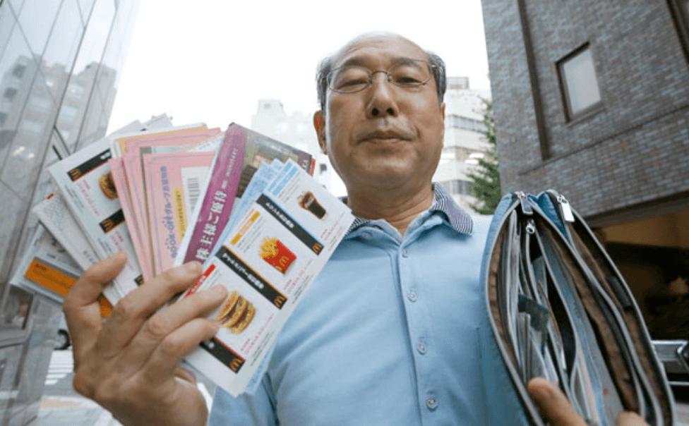 Hiroto Kiritani, l'uomo che vive di coupon da 36 anni